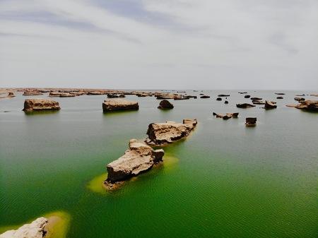 view of Yadan National Geological Park, Gansu, China Stok Fotoğraf - 123169709