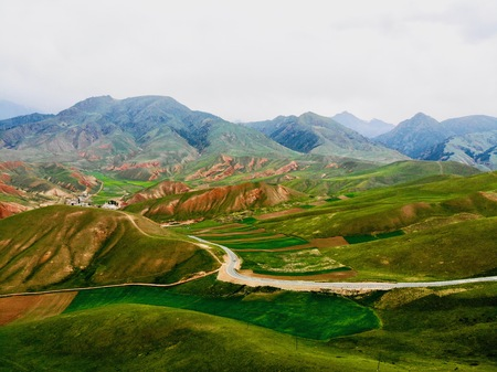 view of Yadan National Geological Park, Gansu, China