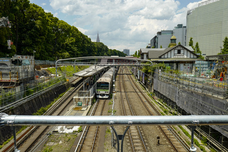 Tokyo, Japan, 1st, June, 2017: The JR line. East Japan Railway Company is a major passenger railway company in Japan and is the largest of the seven Japan Railways Group companies. Фото со стока - 123784853
