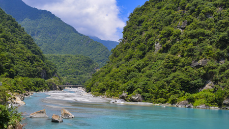 View of Taroko National Park, the park is one of the nine national parks in Taiwan