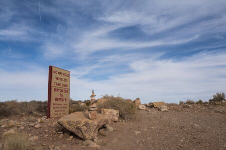 Arizona, America, 9th, March, 2018: Warnings at Grand Canyon National Park, located in northwestern Arizona, is the 15th site in the United States to have been named a national park.
