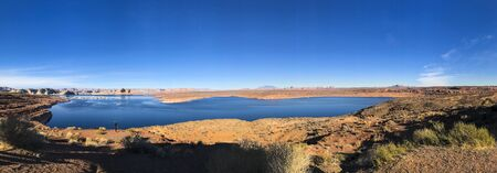 View of Lake Powell from Wahweap Overlook. Near the city of Page. 写真素材