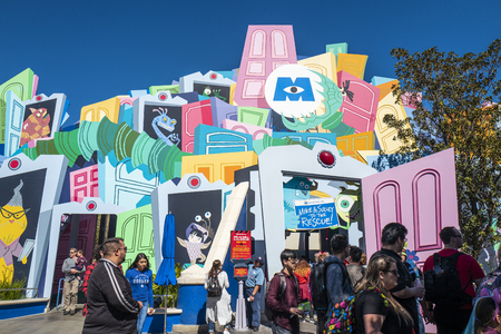 California, America,6th, March, 2018: Shots of the Disney California Adventure Park, is a theme park located in Anaheim. Editorial