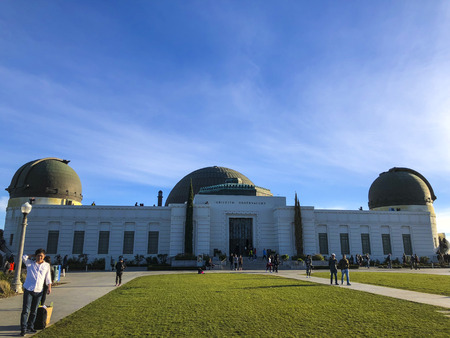 California, America, 4th, March, 2018: The Griffith Observatory at daytime. 報道画像