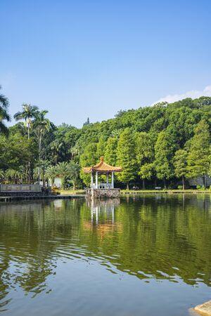 View of the Fairylake at Fairylake Botanical Garden, or Xianhu Botanical Garden
