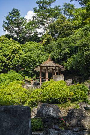 the Bonsai Garden at Fairylake Botanical Garden, or Xianhu Botanical Garden located at Luohu District, Shenzhen, Guangdong, China.