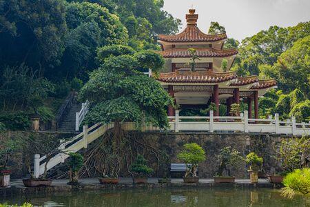 The pavilion at Fairylake Botanical Garden, or Xianhu Botanical Garden at China.