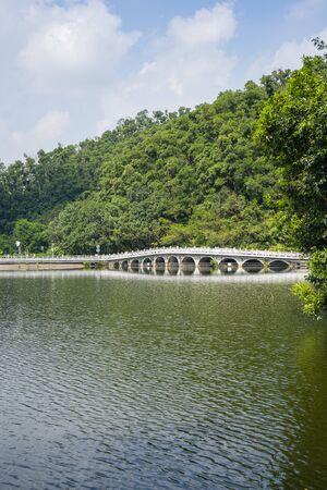 Shenzhen, China. Oct, 2019. The Eleven-Arch Bridge at Fairylake Botanical Garden, or Xianhu Botanical Garden located at Luohu District, Shenzhen, Guangdong, China.
