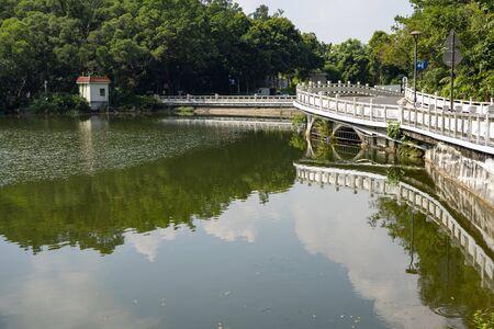 The Eleven-Arch Bridge at Fairylake Botanical Garden, or Xianhu Botanical Garden located at Luohu District, Shenzhen, Guangdong, China.