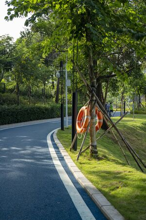 Shenzhen, China. Oct. 2019. View of Dayun Nature Park in the daytime. The park near Shenzhen Universiade Sports Centre, located in Longgang District, Shenzhen, China.