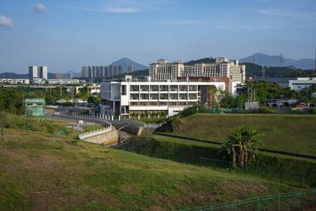 View of Dayun Nature Park in the daytime. The park near Shenzhen Universide Sports Centre, located in Longgang District, Shenzhen, China.