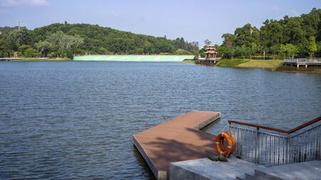 View of Dayun Nature Park in the daytime. The park near Shenzhen University Sports Centre, located in Longgang District, Shenzhen, China. 新聞圖片