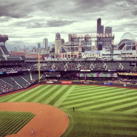 Mariners baseball game at Safeco Field in Seattle Washington Stock fotó - 21568860
