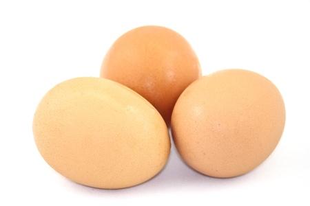 光茶色の卵 写真素材
