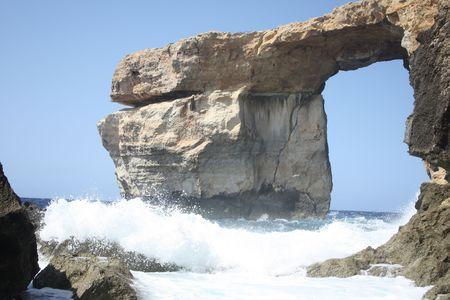 Tourist attraction on island Gozo. Stock Photo