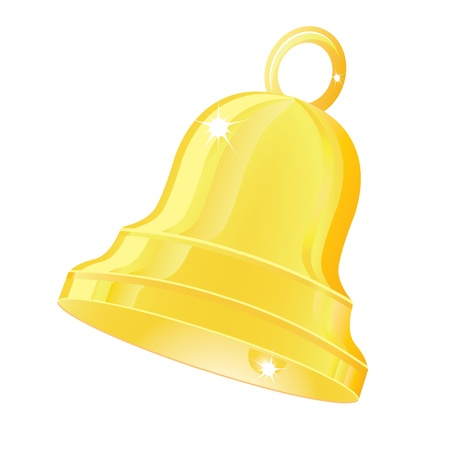 Illustration of a bell on a white background.