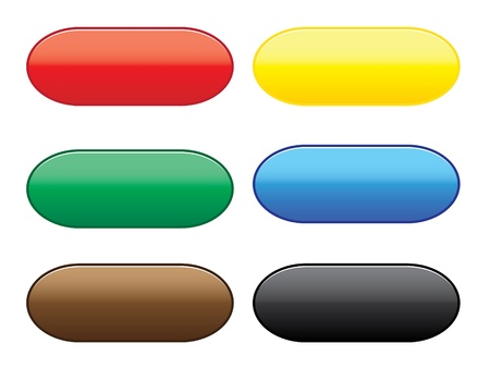 Collection of web buttons with different colors. Stock Vector - 11979980