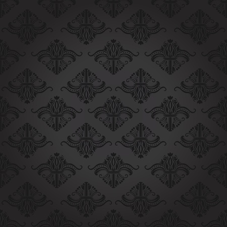 Seamless damask pattern for backgrounds and wallpapers. Illustration