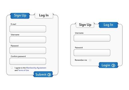 webtemplate: Illustration of Login and Sign up forms. Illustration