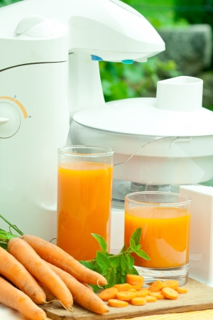 Glass of fresh carrot juice � healthy drink  Stock Photo