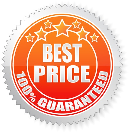 Best Price Red Label on White Background - Vector Illustration  Illustration