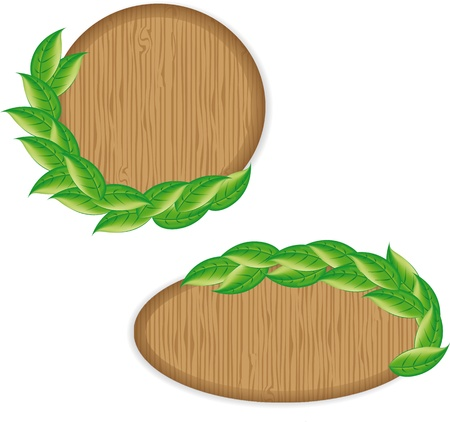Illustration eco friendly wooden icon Stock Vector - 17781042