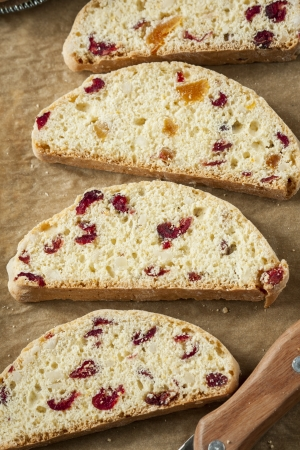Slices of sweat bread with dried fruit  Stock Photo