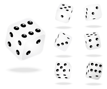 illustration of white dices