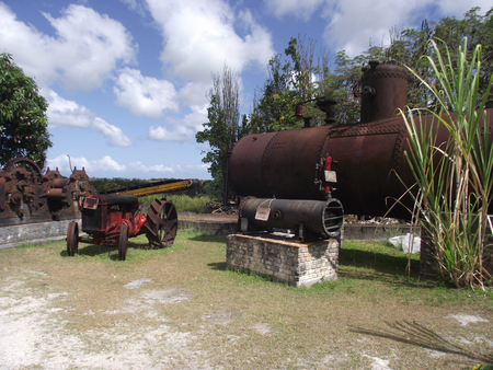 guadeloupe: Ancienne rhumerie de Guadeloupe Stock Photo