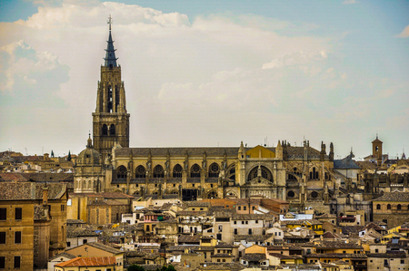 toledo: Toledo Cathedral from the viewpoint of the Valley