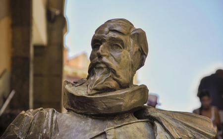 toledo: Statue of Cervantes in Toledo, Spain Editorial