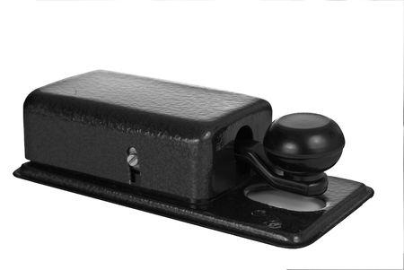 telegraphy: Morse chiave isolata on white  Archivio Fotografico