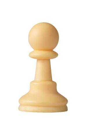 plastic white chess pawn  isolated on white background Stock Photo