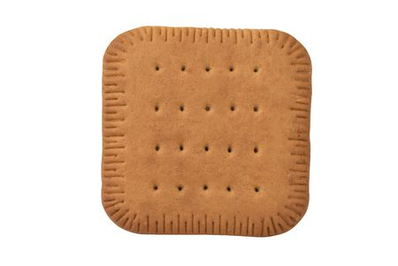 crackers: square biscuit cracker isolated on white background