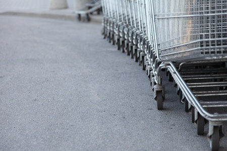 shopping carts, basket, outdoor footpath background Stock Photo - 8512779