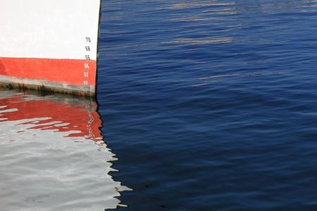Numbers of ships depth gauge blue sea Stock Photo
