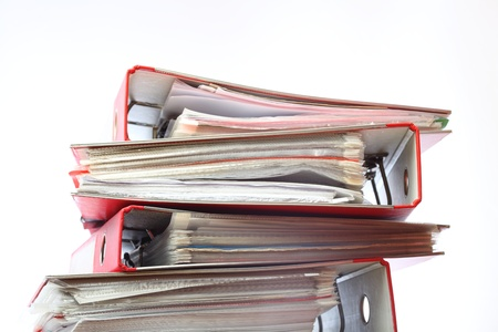 stack file Office folder on white background Stock Photo - 8714274