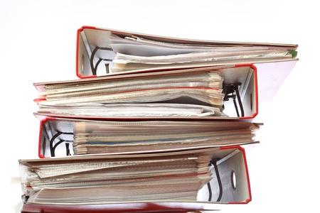 stack file Office folder on white background Stock Photo - 8714283