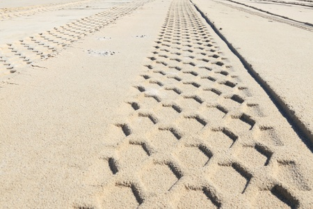 abstract composition for tracks on sand from tire