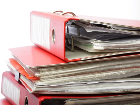 stack file Office folder on white background photo