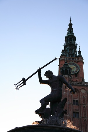 neptun: Neptun fountain, Gdansk, Danzing, Poland