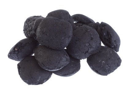 coal, carbon nugget isolated on white background