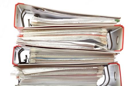 stack file Office folder on white background