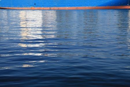 depth gauge: ships depth gauge blue sea Stock Photo