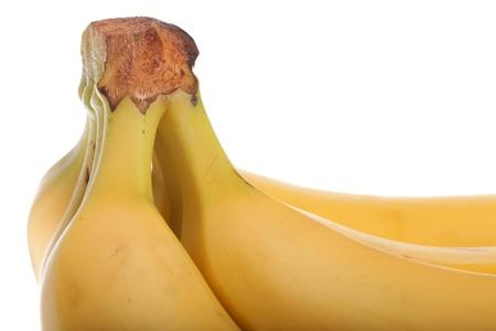 produits alimentaires: bananes jaunes bouquet isolé sur fond blanc