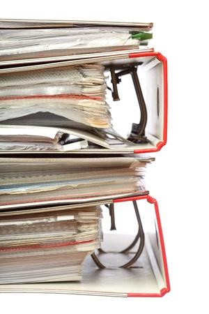 stack file Office folder on white background Stock Photo - 11852907