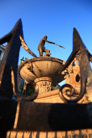 neptun: Neptun fountain, Gdansk, Danzing, Poland Stock Photo