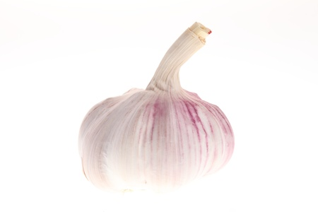 Garlic isolated on white background. photo