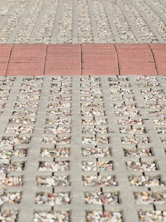 Stones of the pavement of an urban street