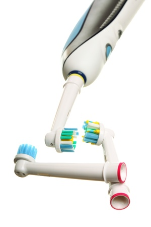 modern electrical toothbrush isolated on white background Stock Photo - 12788113